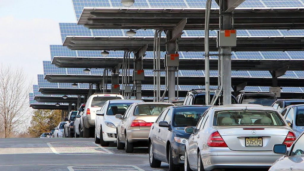 Rutgers Livingston Solar Parking Lot